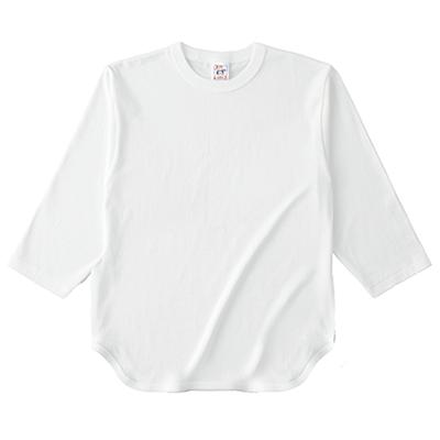 Cross Stitch 6.2oz オープンエンド ベースボール 七分袖Tシャツ OE1230