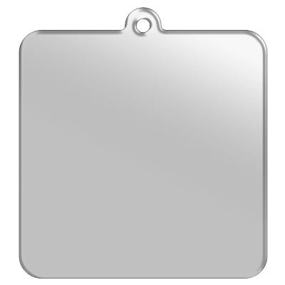 正方形キーホルダー【6cm/チェーン】