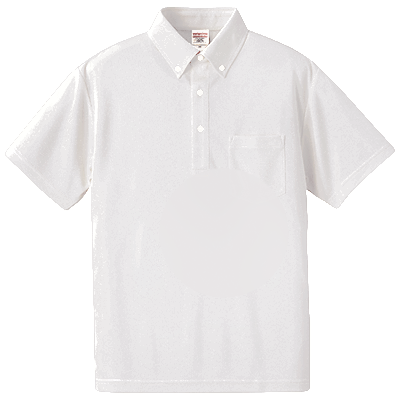 United Athle 4.1oz ドライアスレチック ボタンダウンポロシャツ(ポケット付) 5921-01