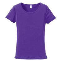 rucca 6.2oz CVCフライス Tシャツ(レディース) 5490-04