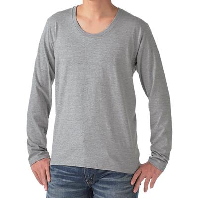 TRUSS 4.3oz スリムフィット Uネック長袖Tシャツ SUL-116